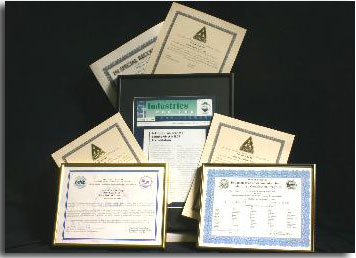 Accreditations and Certificates